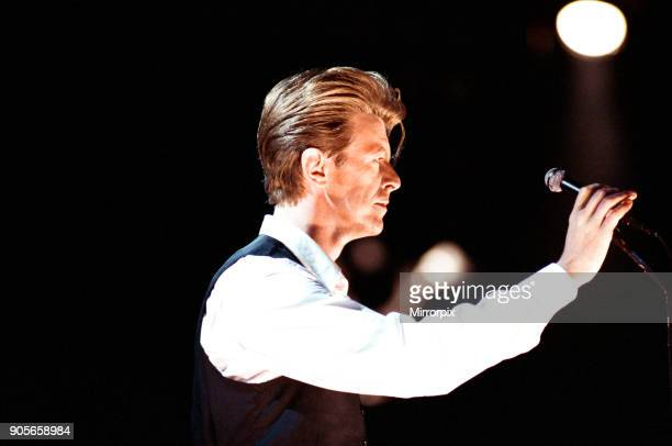 David Bowie performing at The Birmingham NEC as part of his 1990 Sound and Vision World Tour Picture taken 20th March 1990