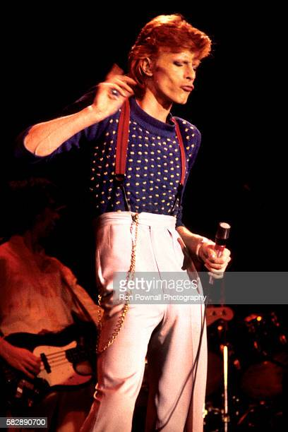 David Bowie performing at the Boston Music Hall July 16, 1974 on The Diamond Dogs Tour.