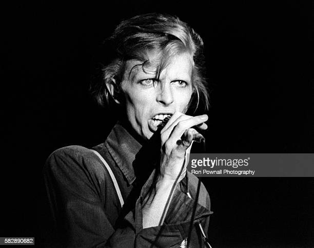 David Bowie performing at the Boston Music Hall Nov 15, 1974 on The Diamond Dogs Tour. .