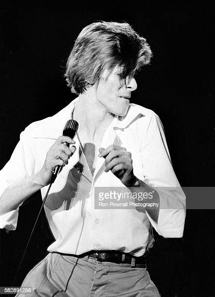 David Bowie performing at the Boston Music Hall Nov 15 1974 on The Diamond Dogs Tour