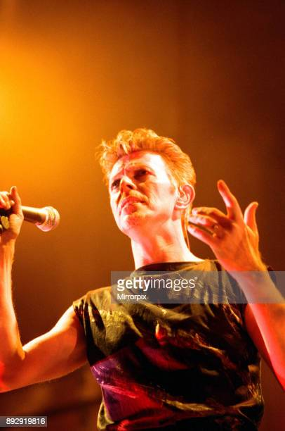 David Bowie performing at the NEC Birmingham Outside Tour 21st November 1995