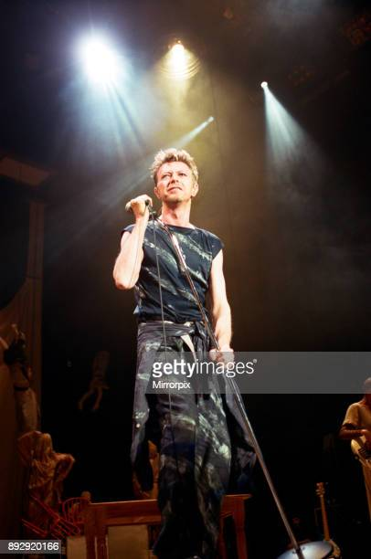 David Bowie performing at the NEC, Birmingham. Outside Tour, 21st November 1995.
