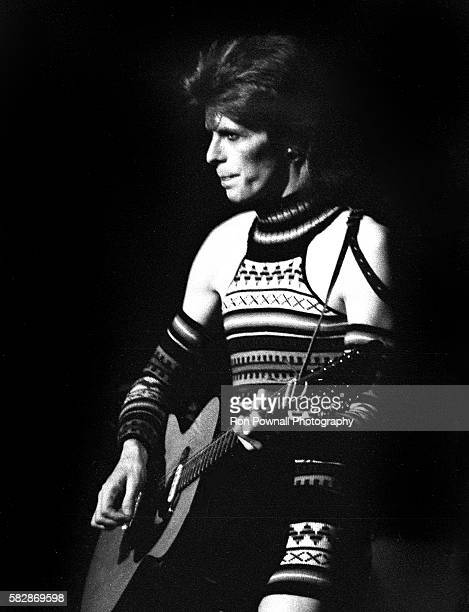 David Bowie performing at the Radio City Music Hall NYC Feb 14 1973 on The Ziggy Stardust tour