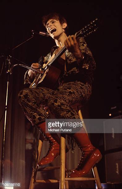David Bowie performing on stage at the Aylesbury Friars on January 29 1972