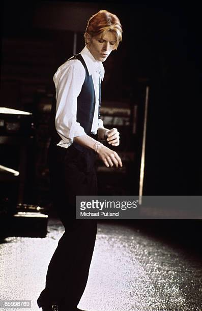 David Bowie performing on the Thin White Duke tour at Wembley London 1976