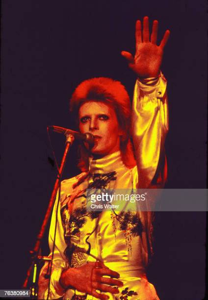 David Bowie performs as Ziggy Stardust 1973 Chris Walter