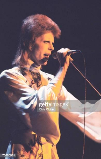 David Bowie performs as Ziggy Stardust 1973