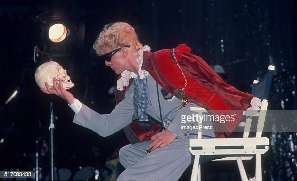 David Bowie performs during the Serious Moonlight Tour at Madison Square Garden on July 25 1983 in New York City