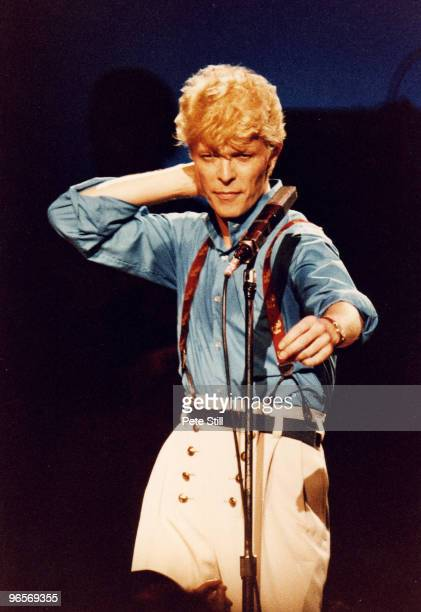 David Bowie performs on stage at Hammersmith Odeon on June 30th, 1983 in London, United Kingdom.