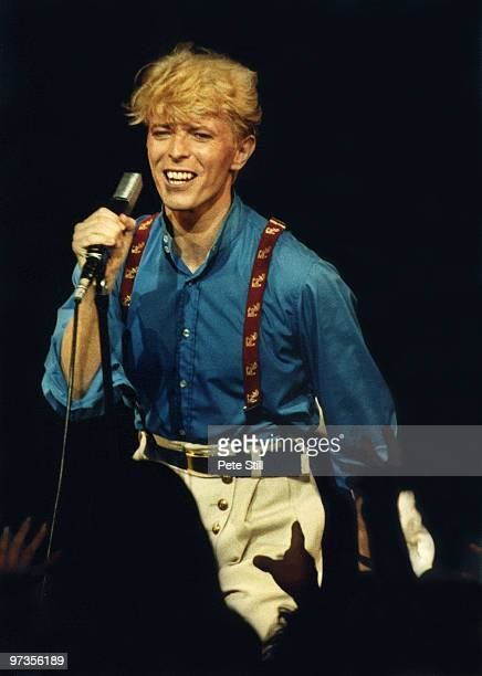 David Bowie performs on stage at Hammersmith Odeon on June 30th 1983 in London England
