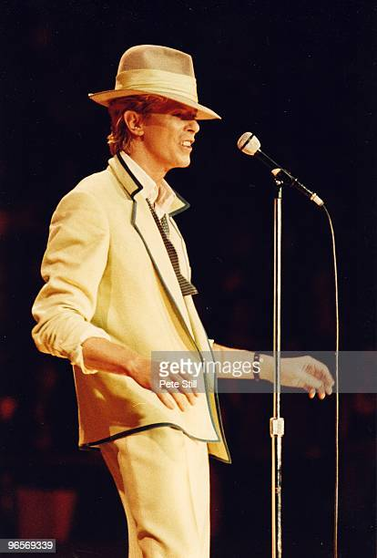 David Bowie performs on stage at Wembley Arena on his 'Serious Moonlight' tour on June 2nd 1983 in London United Kingdom