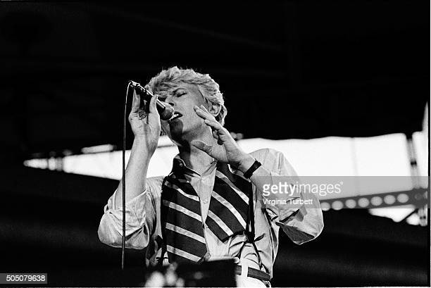 David Bowie performs on stage on the 'Serious Moonlight' tour Milton Keynes Bowl United Kingdom 2nd July 1983