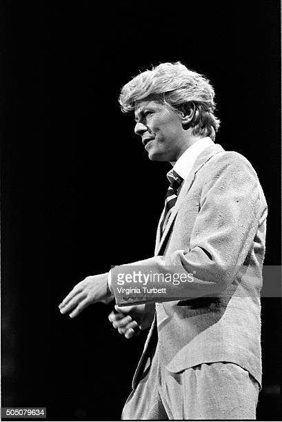 David Bowie performs on stage on the 'Serious Moonlight' tour Wembley Stadium United Kingdom 4th June 1983
