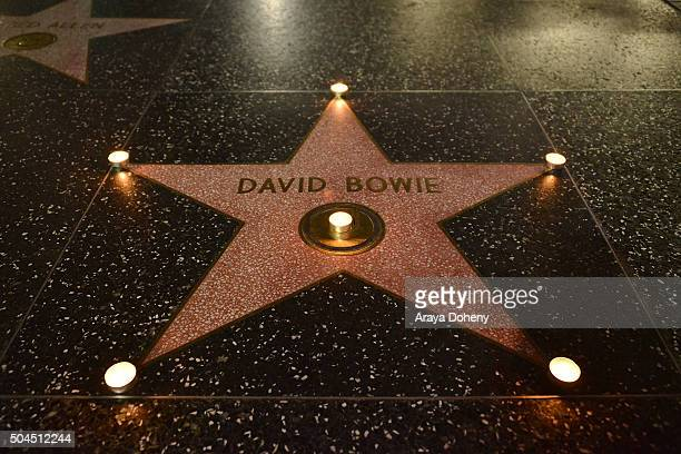 David Bowie remembered on The Hollywood Walk of Fame on January 10 2016 in Hollywood California
