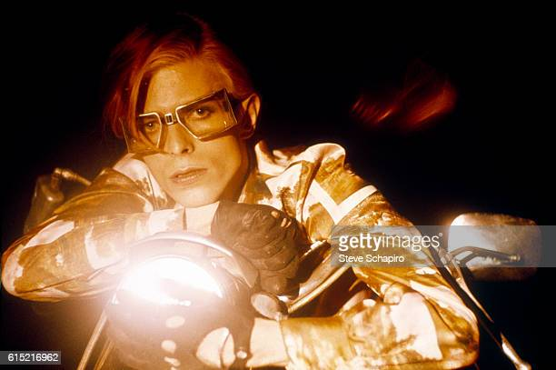David Bowie Riding Motorcycle