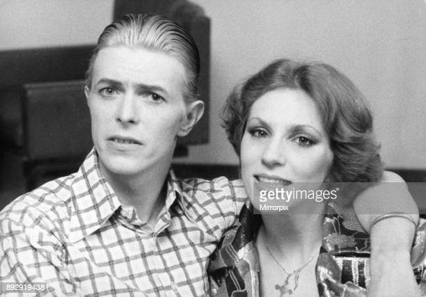 David Bowie seen here with his wife Angie during a visit to London in 4th May 1976