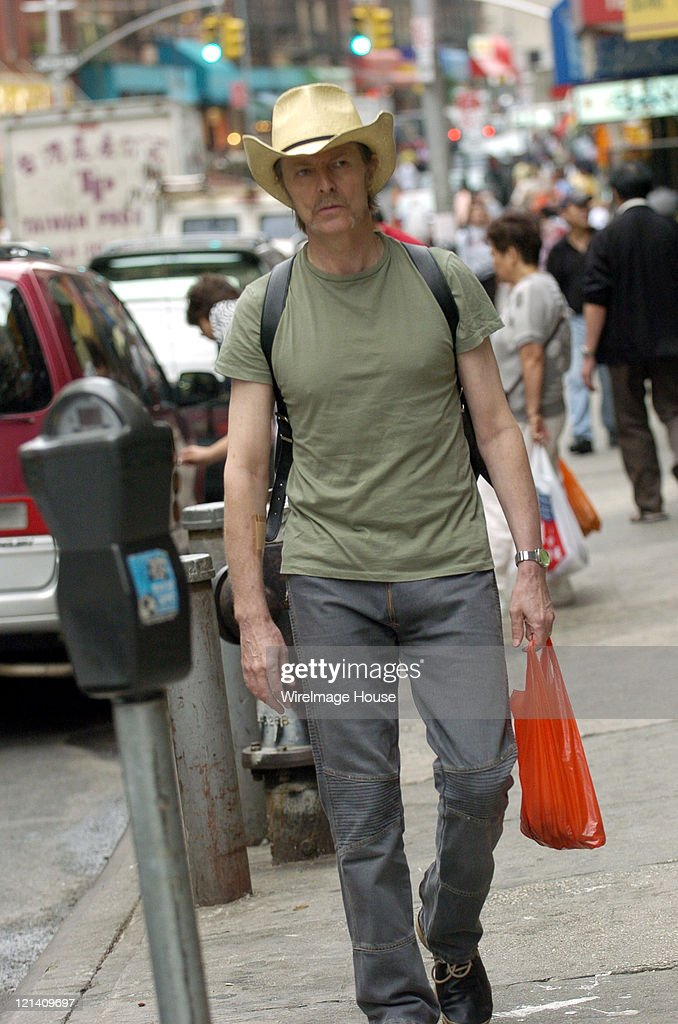 David Bowie Shops in New York City's Chinatown - July 27, 2004