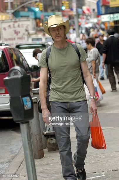 David Bowie shops in New York City's Chinatown