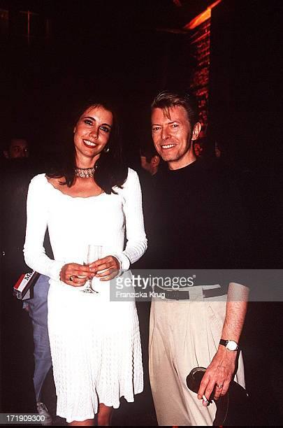 David Bowie und Kristiane Backer Bei Der Vh1 Party In Hamburg