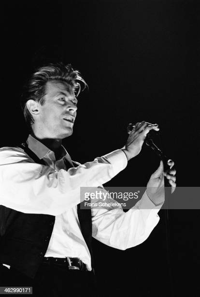 David Bowie, vocal, performs at the Ahoy hal in Rotterdam, the Netherlands on 30th March 1990.