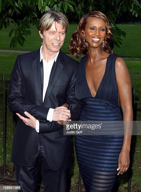 David Bowie Wife Iman At The Serpentine Gallery Summer Party London