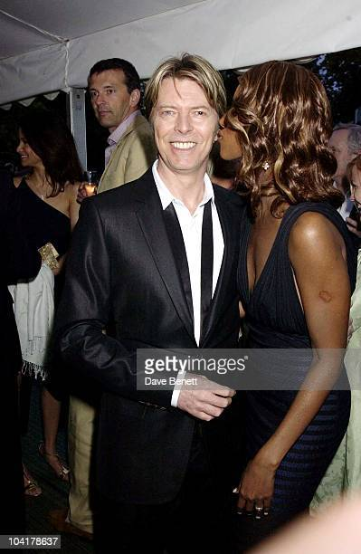David Bowie Wife Iman The Serpentine Gallery Summer Party In London