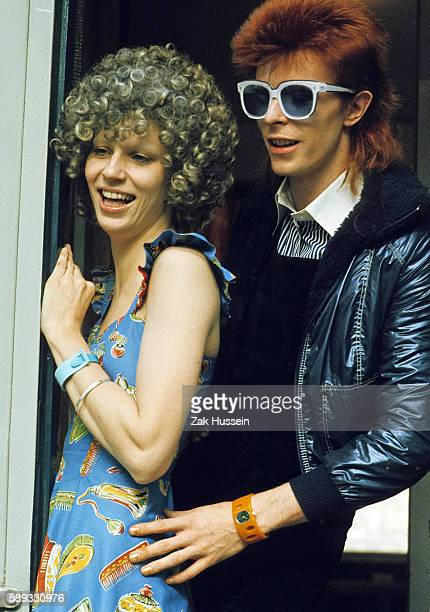 David Bowie with his wife Angie Bowie in London in 1974 Angie Bowie divorced David Bowie in1980 David Bowie died of caner in January 10 2016
