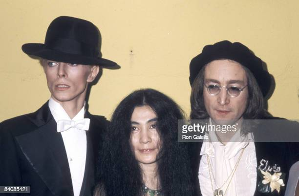David Bowie Yoko Ono and John Lennon