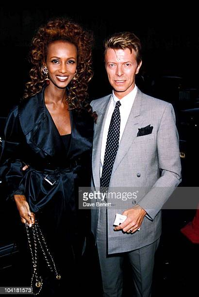 David Bowie_iman At The Sunset Boulevard Adelphi Theatre Londaon Davidbowieretro