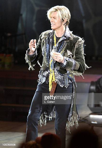 David Bowie's 'A Reality Tour' landed in Los Angeles at the Greek Theatre before a celebritystudded soldout crowd April 22 Cheering Bowie on were an...