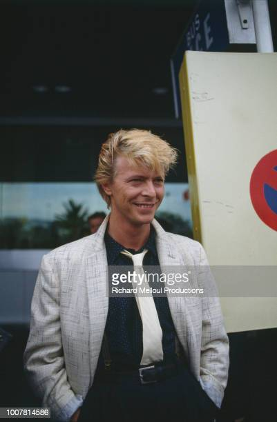 David Bowie's arrival in Cannes to promote Tony Scott's film 'The Hunger' not competing in the Festival de Cannes selection 10th May 1983