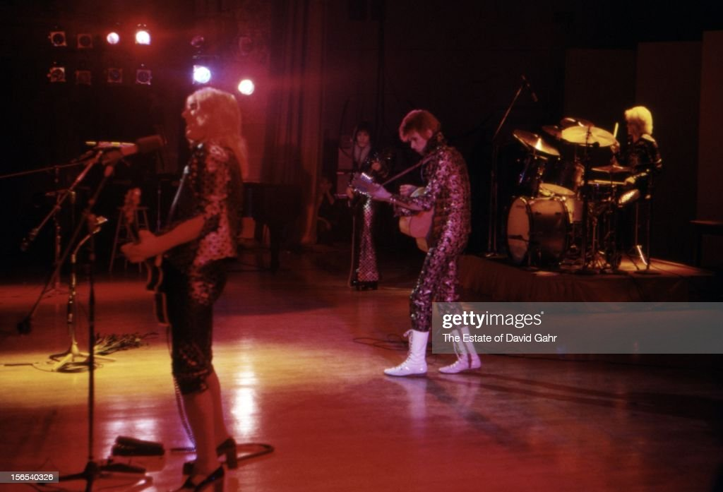 David Bowie's Ziggy Stardust and The Spiders from Mars perform at