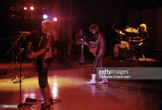 David Bowie's Ziggy Stardust and The Spiders from Mars perform at Carnegie Hall on September 28 1972 in New York City New York This show is David...