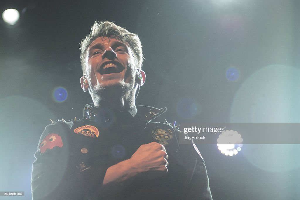 David Boyd of New Politics performs at El Rey Theatre on December 8, 2015 in Los Angeles, California.