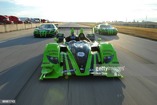 David Brabham drives the Patron Highcroft Racing HPD ACX01c prototype Scott Sharp drives the and Ed Brown drives the Extreme Speed Motorsports Teuila...