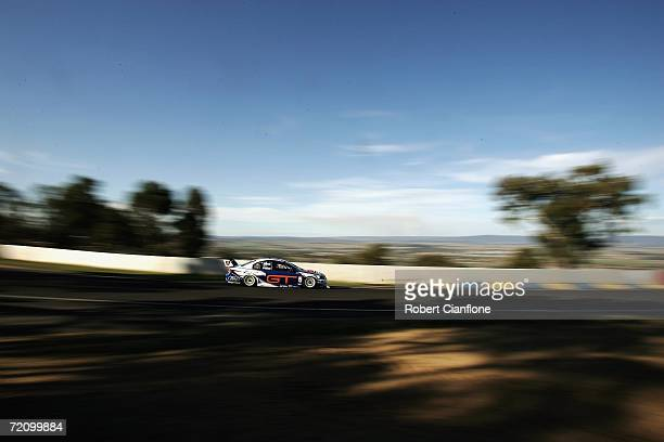 David Brabham of Ford Performance Racing in action during the qualifying session for the Bathurst 1000 V8 Supercars race at the Mount Panorama...