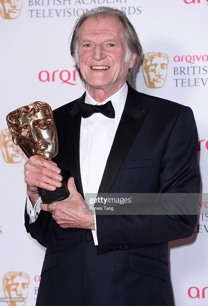 David Bradley with the Supporting Actor Award for Broadchurch, at the Arqiva British Academy Television Awards held at the Theatre Royal on May 18, 2014 in London, England.