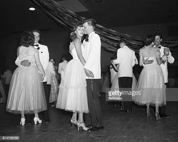 David Brandt and Ruth Estelle dance at the Senior Prom at Anacosta High School Their double date Barbara Belchak and Dan Knode also dance left |...