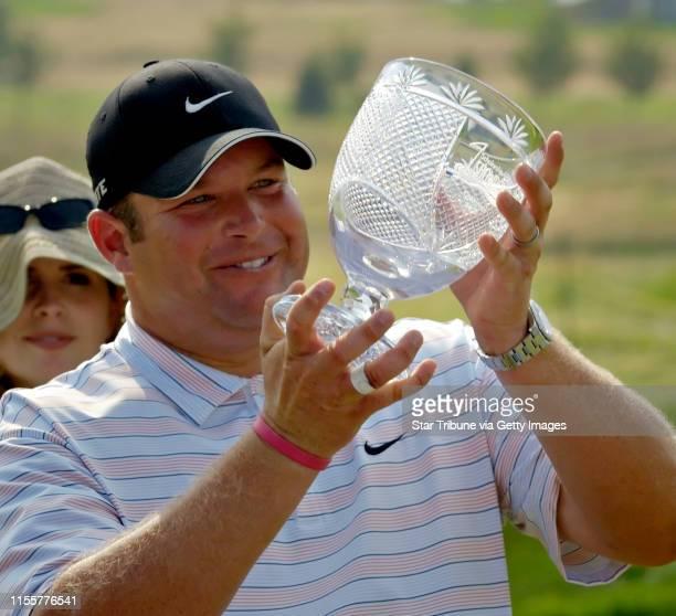 David Brewster/StarTribune Sunday_07/17/05_Hudson Scholarship America Showdown golf tournament Troy Burne Golf Club Hudson Wis Jason Gore his wife...