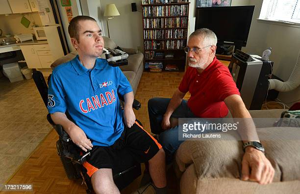 NEWMARKET ON JULY 5 David Brock 31 is seen with his father John in their subsidized home in the Bathurst and Davis drive area of Newmarket David has...