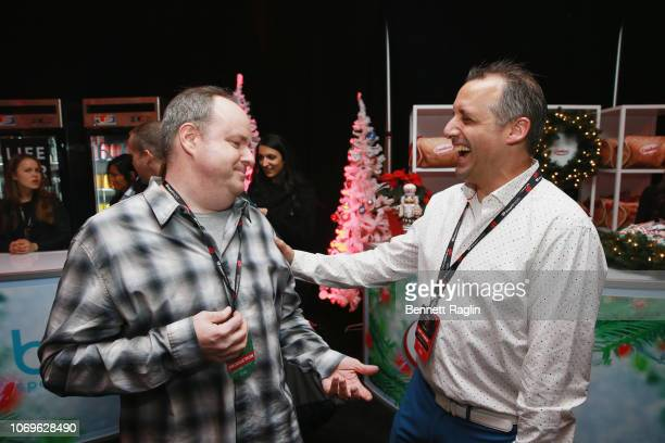 David Brody and Joe Gatto attend Z100's Jingle Ball 2018 Gift Lounge at Madison Square Garden on December 7 2018 in New York City