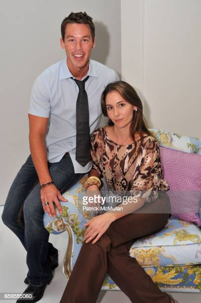 David Bromstad and Ashlee Harrison attend PATTERNS for PAWS Benefiting Broward County Humane Society at DCOTA on October 28 2009 in Dania Beach...