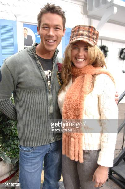 David Bromstad and Danielle Hirsch during HGTV's Make It Home For The Holiday's Celebration November 30 2006 at Greeley Square Park in New York City...