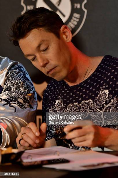 David Bromstad judges the Heineken Light Burger Bash Presented by Schweid Sons Hosted by Rachael Ray on February 24 2017 in Miami Beach Florida