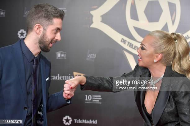 David Broncano and Belen Esteban attend 'Iris Academia de Television' awards at Nuevo Teatro Alcala on November 18 2019 in Madrid Spain