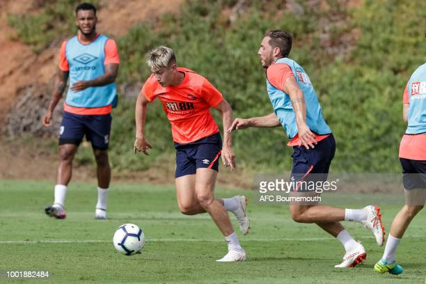 David Brooks and Dan Gosling of Bournemouth during preseason training on July 19 2018 in La Manga Spain