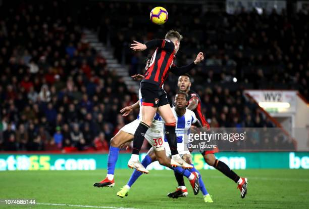 David Brooks of AFC Bournemouth scores his team's second goal during the Premier League match between AFC Bournemouth and Brighton Hove Albion at...