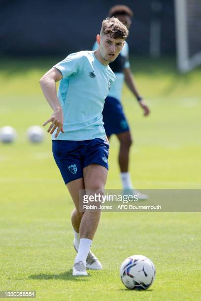 David Brooks of Bournemouth during a pre-season training session at Vitality Stadium on July 22, 2021 in Bournemouth, England.