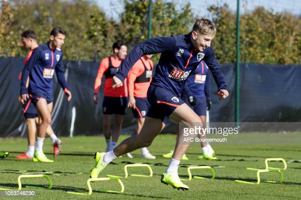 David Brooks of Bournemouth during a training session at Vitality Stadium on October 24, 2018 in Bournemouth, England.