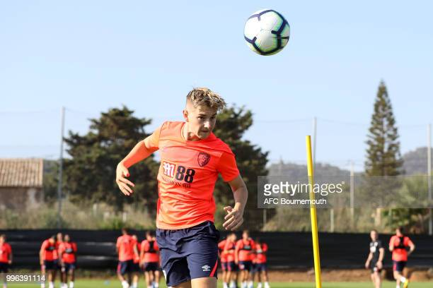 David Brooks of Bournemouth during preseason training at the Cherries training camp at La Manga Spain on July 11 2018 in La Manga Spain